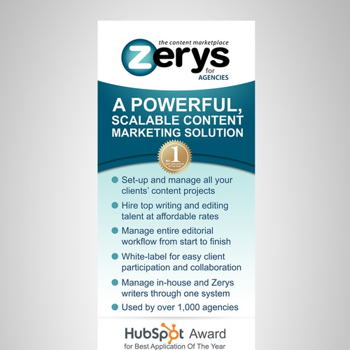 Banner Stand Design for Zerys Content Marketplace