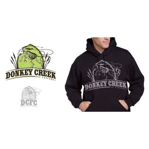 "Logo for ""Donkey Creek Fly Casters"" - Fly Fishing Club!!!!"