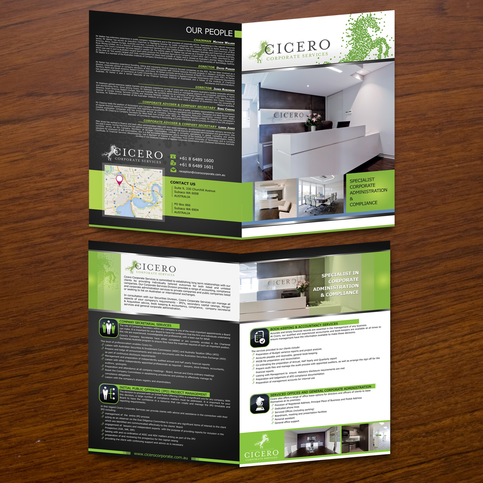 Help Cicero Corporate Services with a new brochure design