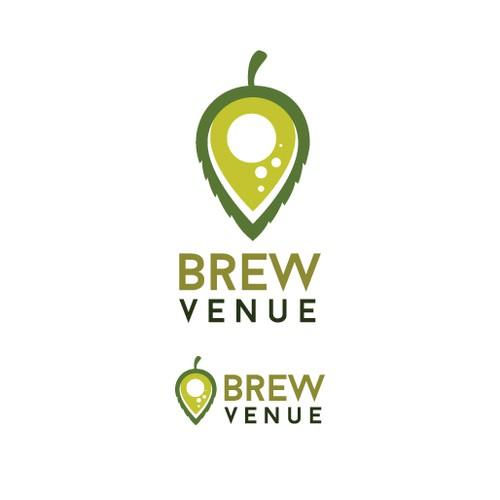 Create a captivating logo for BrewVenue - Combine hops w/ event space!