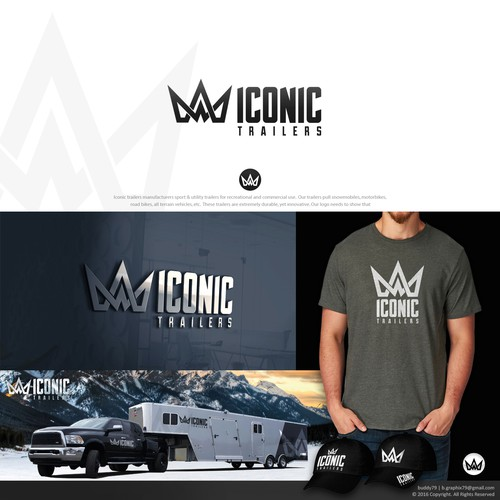 Awesome logo for Iconic trailers