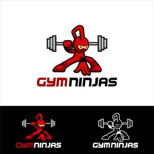 create fun youthful exciting logo Gymninjas