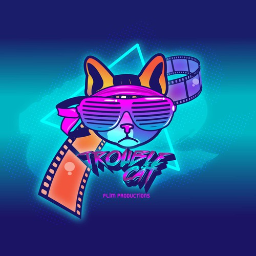 Trouble cat 80s inspired