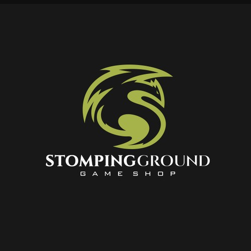 an Original Dragon logo for Stomping Ground