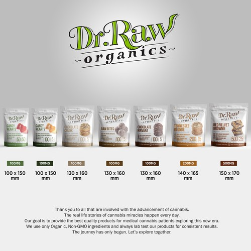 PRODUCT PACKAGING FOR DR RAW