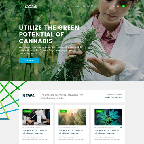 Clear, serious and intuitive web site for Cannabis Catalysts