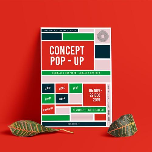 Concept Pop-up Event Poster