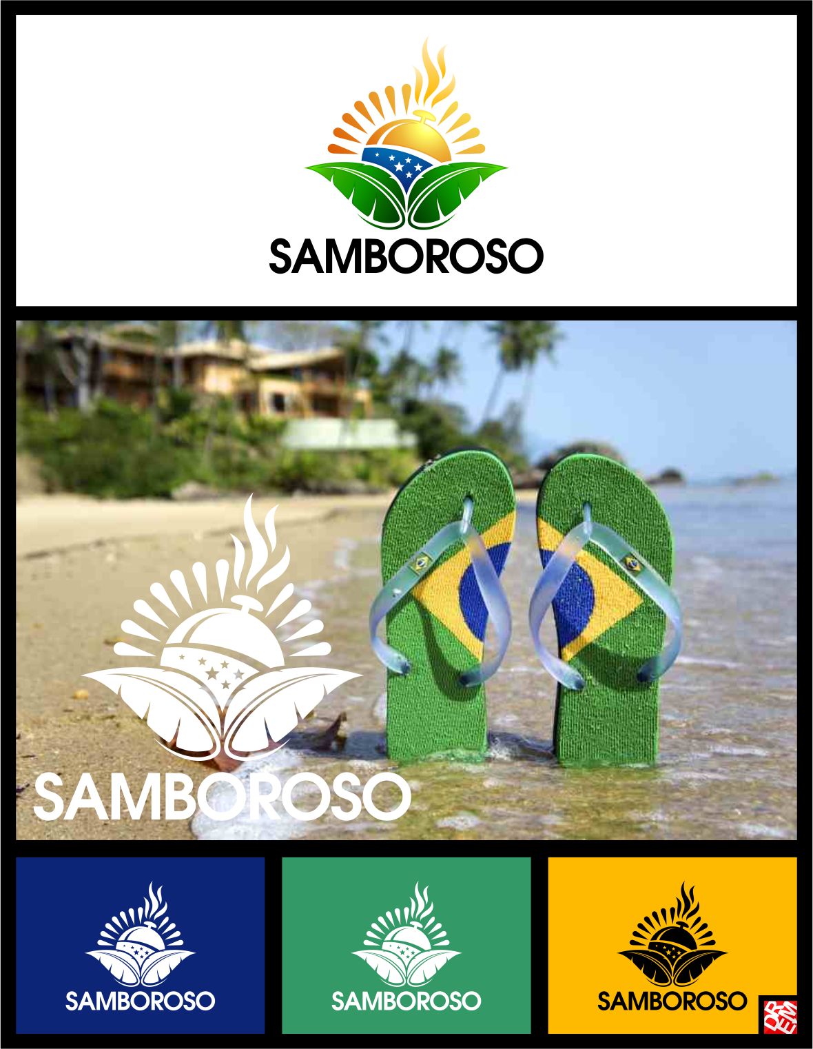 Create a lively logo that captures the essence of Brazil!