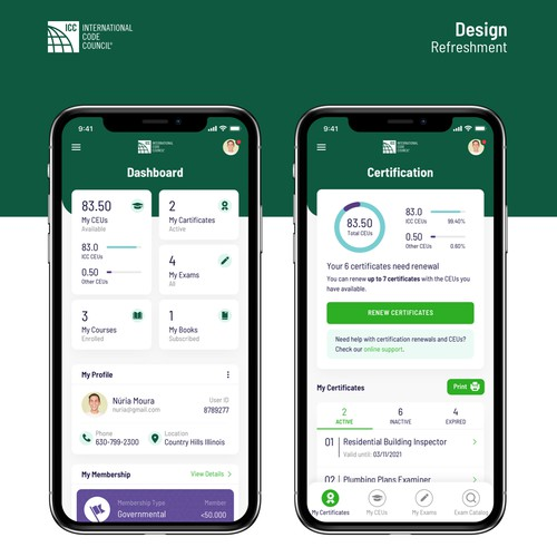 Redesign iOS app for ICC