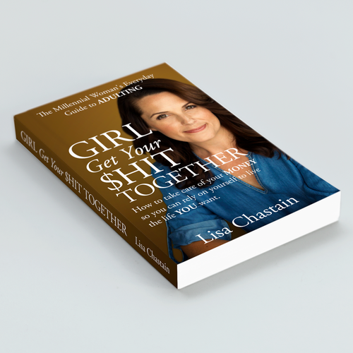 Simple concept for book cover author