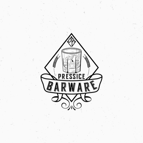 Design a Rustic, Smokey, Vintage Masculine Logo For Barware