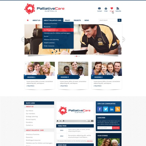 Peak Australian health organisation seeking an exciting new website