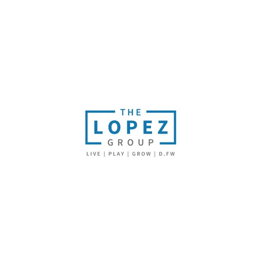 Simple and modern text only logo for Lopez Group