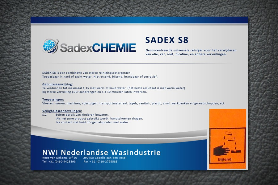 New print or packaging design wanted for Sadex Chemie