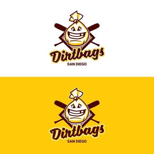 Logo para time de baseball infantil DIRTBAGS, de San Diego - CA-US