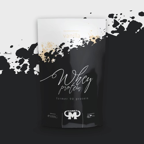 Mammut whey protein bag packaging