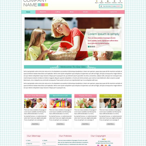Website Design for E-commerce Company - Design Theme for Stay-at-home Moms