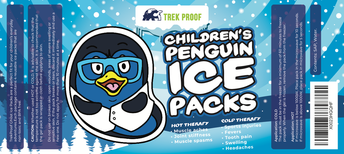 Childrens Ice Pack card label