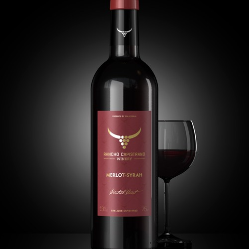 product label for Rancho Capistrano Winery