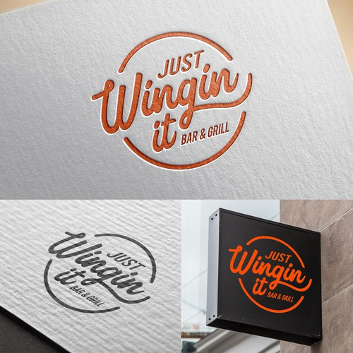 Restaurant Logo Design - Just Wingin It