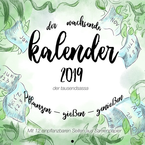 Cover for a calendar with plants