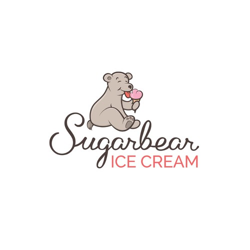 Logo for ice cream company