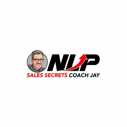 NLP Sales Logo Concept Coach