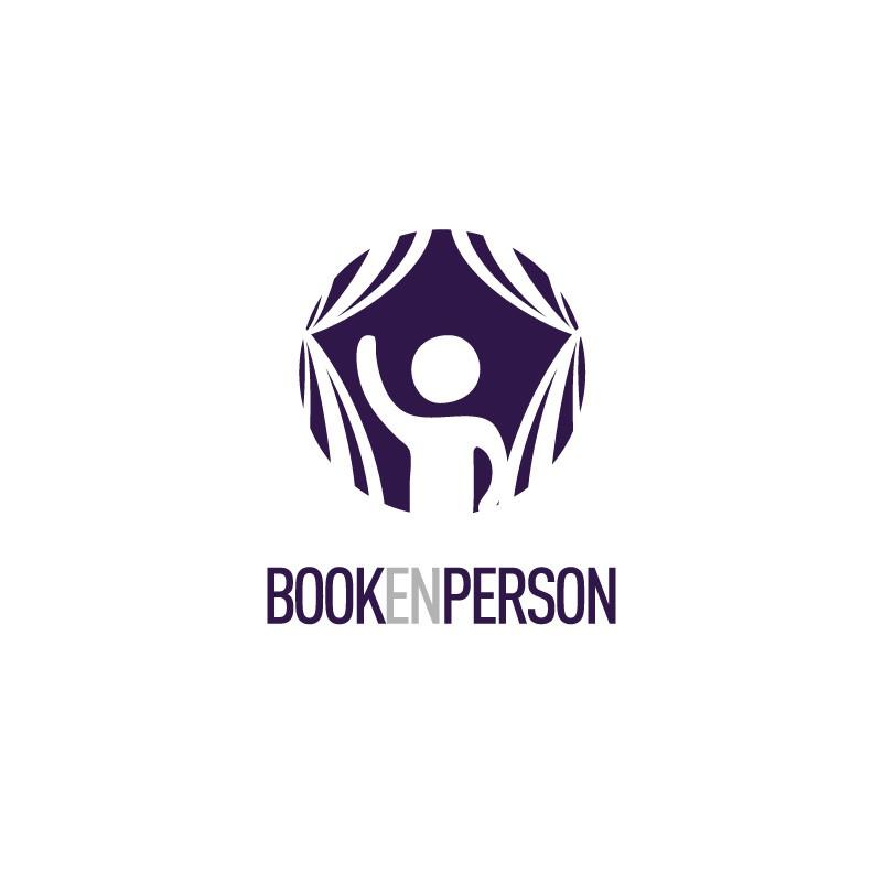 """logo for """"Book en person"""" (""""book a person dot no"""")"""
