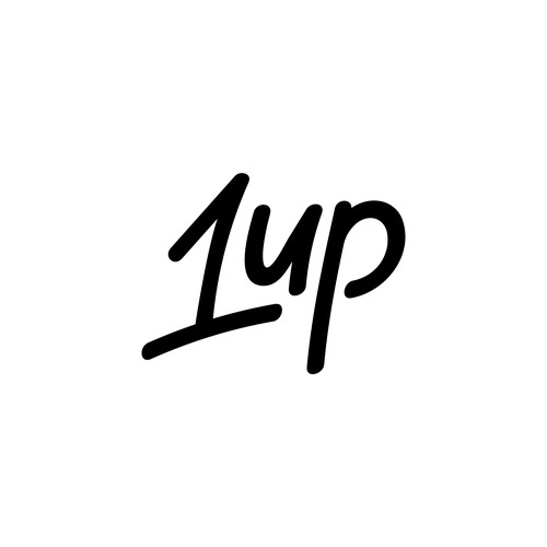 Hand drawn logo design made for 1 UP