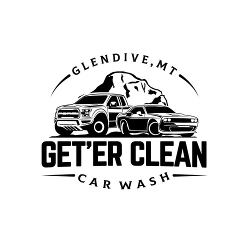 Bold logo for Car wash company in Montana