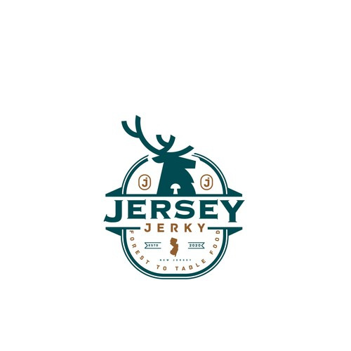 "Logo design for ""Jersey Jerky"""