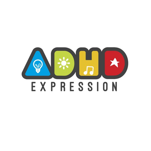 Bold ADHD logo - depiction of hope & creativity