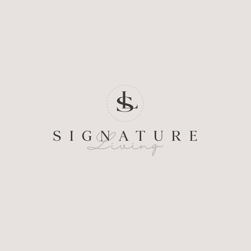 elegant logo for manufacture luxurious linens