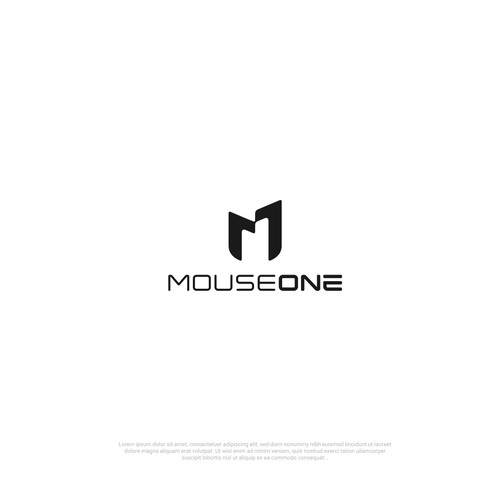 "Logo for a gaming peripherals ""MouseOne"""