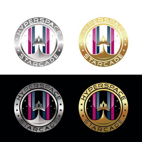 Hyperspace Starcade Logo Design