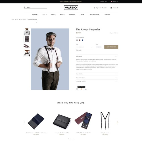Product Page - Fashion Brand