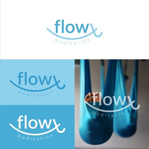 Flowt Meditation logo design