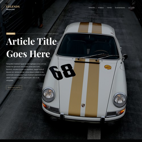 Magazine website
