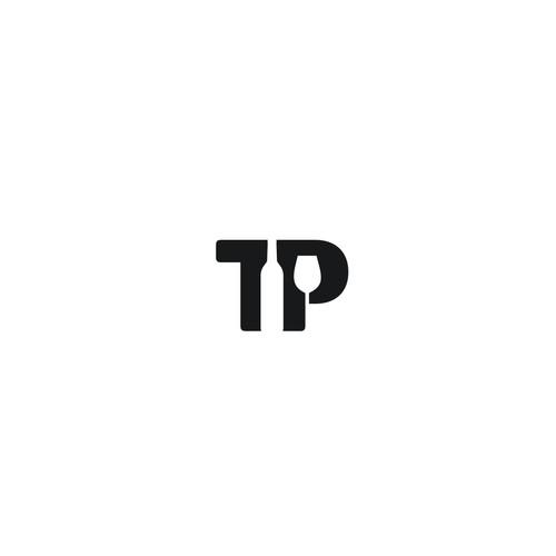 Logo design for TP - Sélection Champagnes et Vins