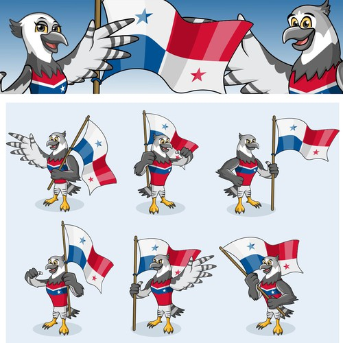 Panama eagle mascot