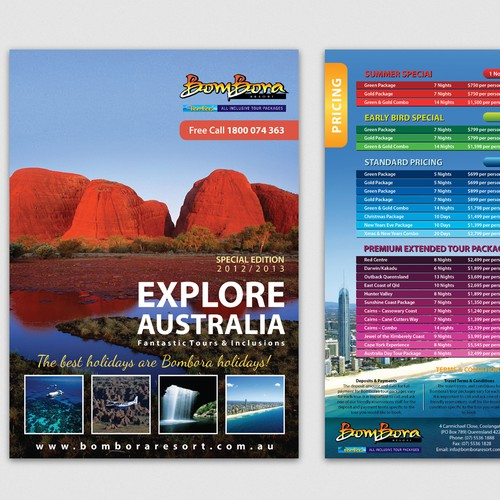Help Bombora Resort with a new brochure design