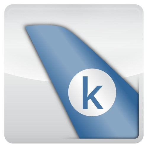 Mobile app icon for travelers.