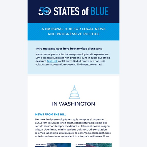 50 States of Blue Email Template