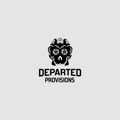 Sugar Skull logo for Departed Provisions