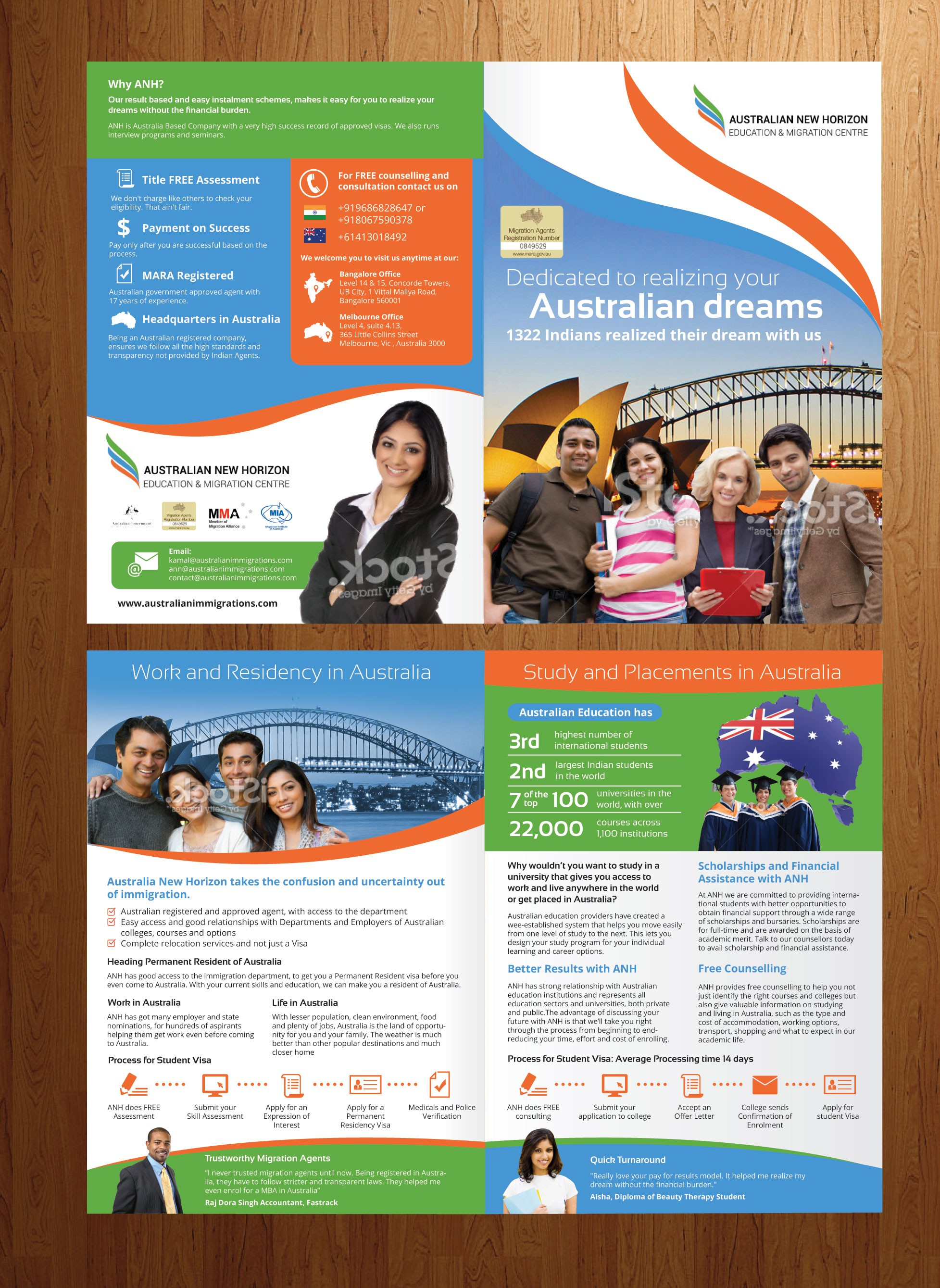 CREATE AN INSPIRING BROCHURE FOR IMMIGRATION
