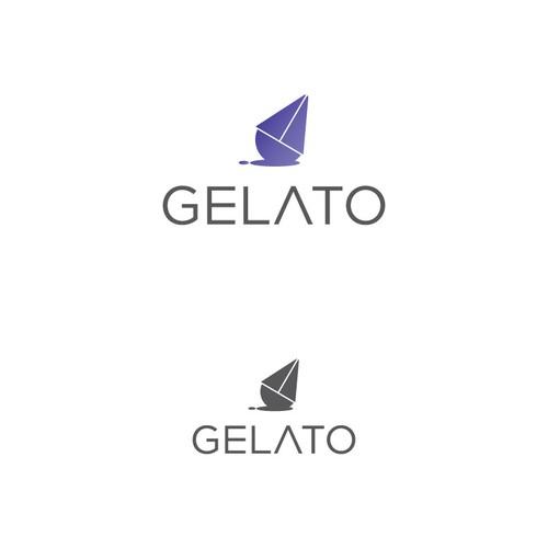 Lean and clean blockchain tech logo