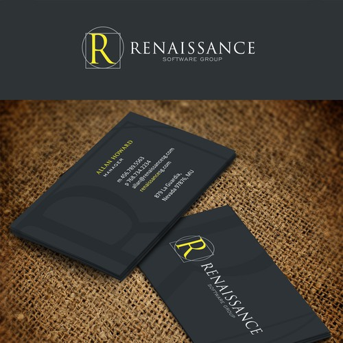 Create a professional yet artistic logo for Renaissance Software