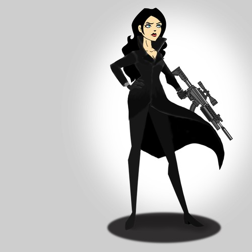 Evil woman character for video game