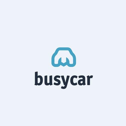busycar logo concept