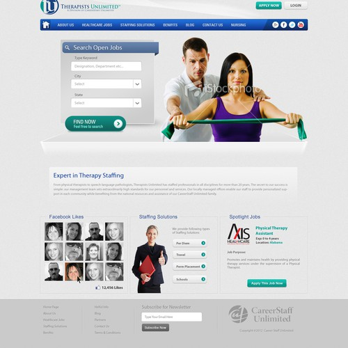 website design for CareerStaff Unlimited